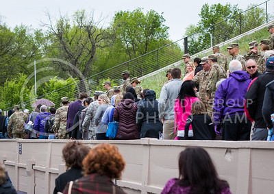 Tthe World War I Memorial Stadium Dedication Ceremony on April 21, 2017. (John Benfer | The Collegian)