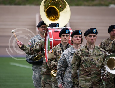The World War I Memorial Stadium Dedication Ceremony on April 21, 2017. (John Benfer | The Collegian)