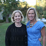Event co-chair Phoebe Wood and Lisa Tate Austin.