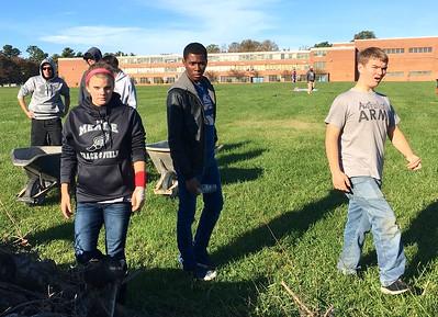 2016-10-29 Broken Wall Project, Building Baseball Field
