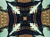 COMMUNITY<br /> The Village Green magically becomes the Town Square in this Escher styled print.