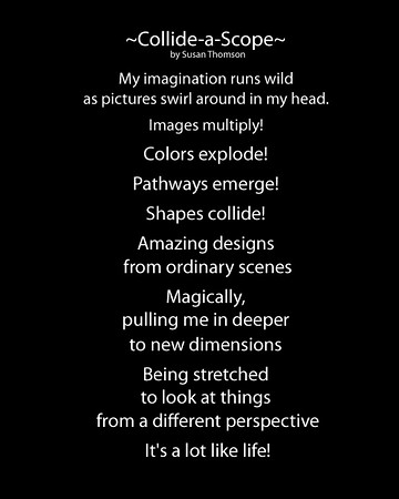 Collide-a-Scope Poem by Sue Thomson
