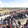 The two small grandstands were packed.