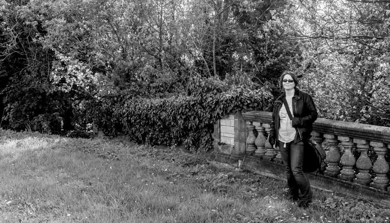 Kate and bridge, Collingtree Grange, Collingtree, Northamptonshire