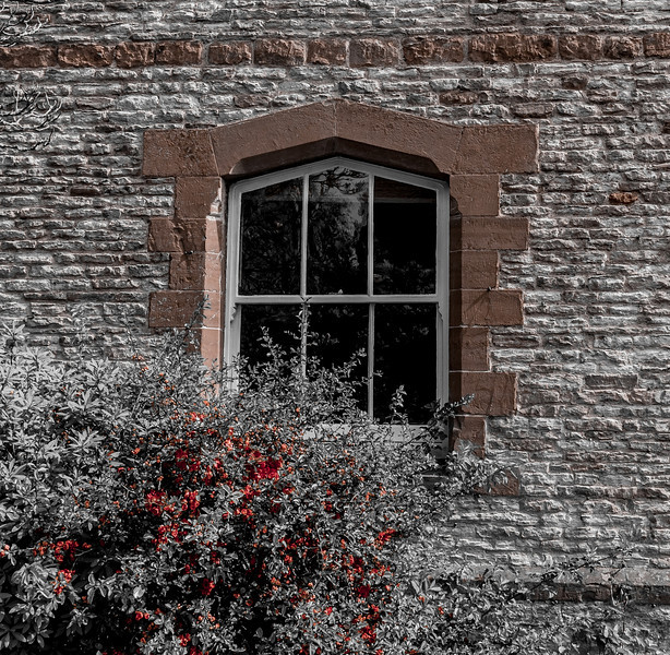 Arch window and stone dressing, Collingtree, Northamptonshire