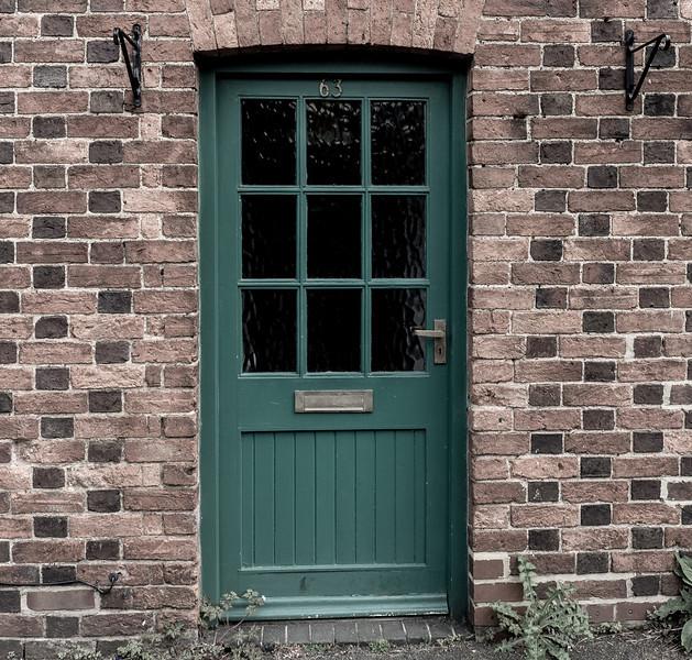Door and polychromatic brick workt, Collingtree, Northamptonshire