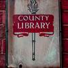 County Library Sign, Collingtree, Northamptonshire