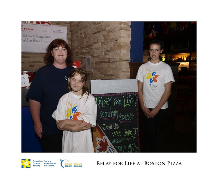 Relay for Life Fundraiser at Boston Pizza 2