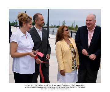 Helena Guergis at the Shipyard Promenade Opening  11