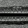 Johnson and Wright, Northampton cast iron pavement drainage channel, Manfield  Road, Northampton