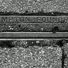 Northampton Foundry cast iron pavement drainage channel, Manfield  Road, Northampton