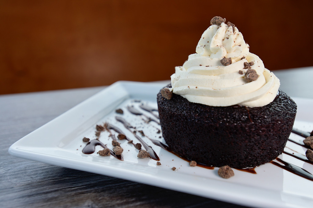 . LONGMONT, CO - JANUARY 30:Chocolate Irish Car Bomb Cake with chocolate stout cake with house made Baileys whip cream at Collision Brewing Company and restaurant in Longmont on Jan. 30, 2019. (Photo by Matthew Jonas/Staff Photographer)