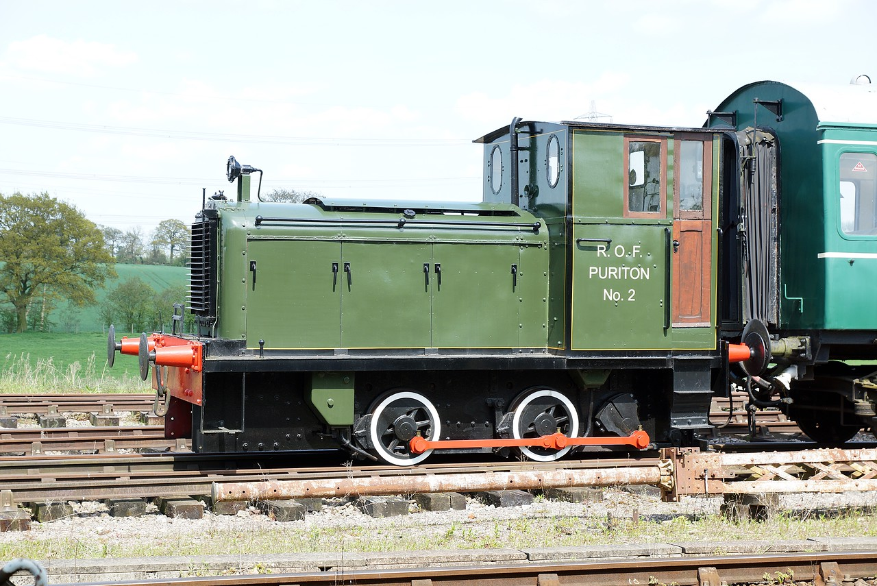 SH 349 'R.O.F Puriton No2' AB 0-4-0DM 04,05,2016