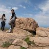 The highest boulder.