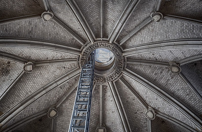 Inside a spire of the Cologne cathedral