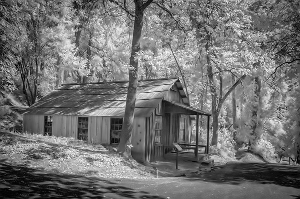 Infrared View of Cabin of James Marshall