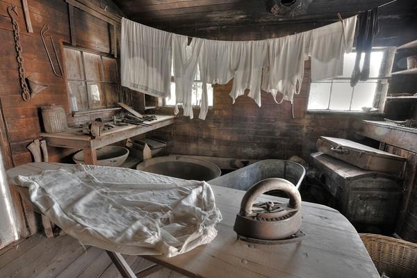 Wash Day, Thomas House, Coloma