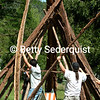 Construction of a Cedarbark Teepee