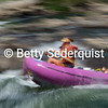 Time Exposure of Whitewater Rafters