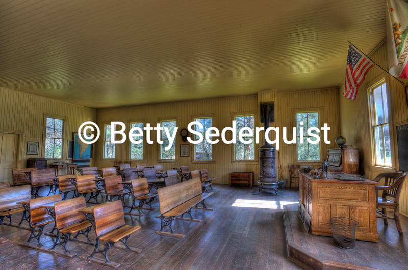 Coloma Schoolhouse Interior