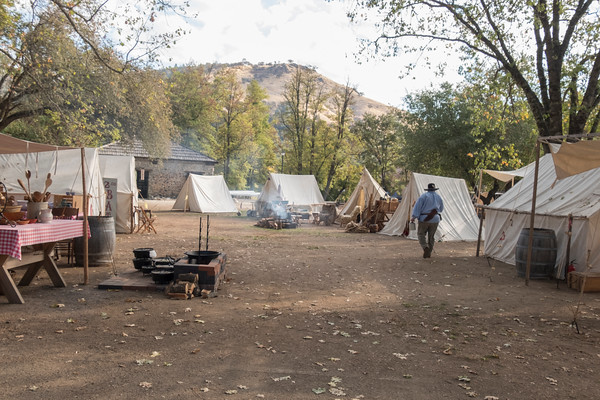 Overview of Tent Camp, Gold Rush Live