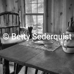 Dining Room Table and Chairs, Marshall Cabin, Coloma