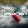 Time Exposure of Kayaker, Troublemaker Rapid, South Fork American River