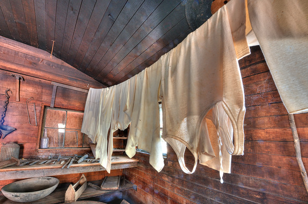 Laundry and Tools, Thomas House, Coloma