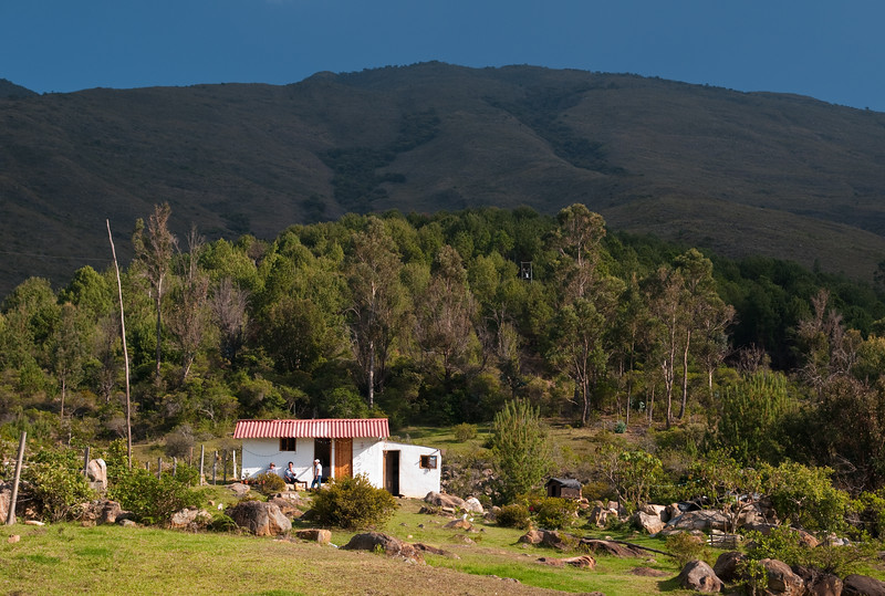 Small house in the foothills, Villa de Leyva, Colombia.