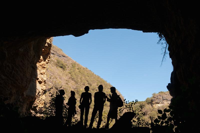 Tourists at Cueva del Hayal, Santa Sofía, Colombia.