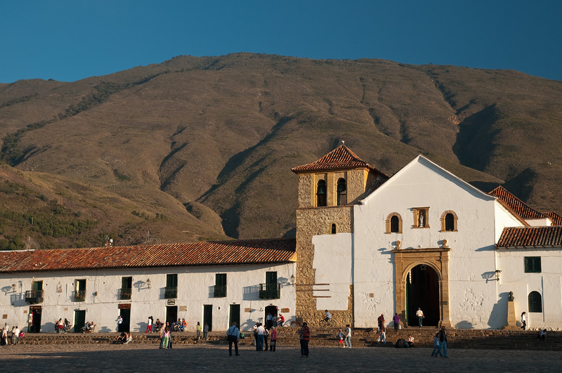 Iglesia Parroquial, built in 1608, Villa de Leyva, Colombia.