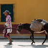 Elderly woman and her donkey, Mompox (Mompós), Colombia.