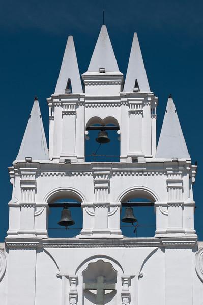 Bell tower of Ermita de la Veracruz, Medellin, Colombia