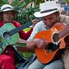 Musicians in Parque de Bolívar, Medellin, Colombia