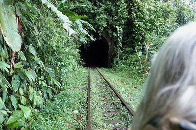 """Riding the """"train"""" to San Cipriano"""