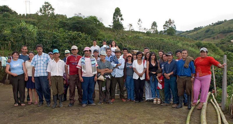 The El Cucho clan and neighbors.  Ermes Lasso, owner of El Cucho, and his wife are to the far left.