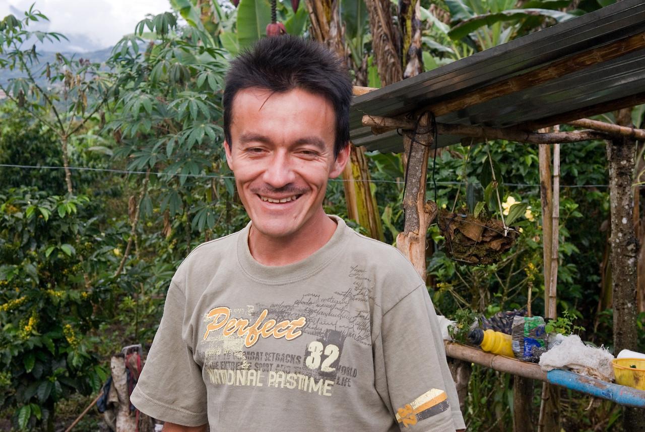 Owner of Las Faldas del Cerro farm, Edgar Martinez.