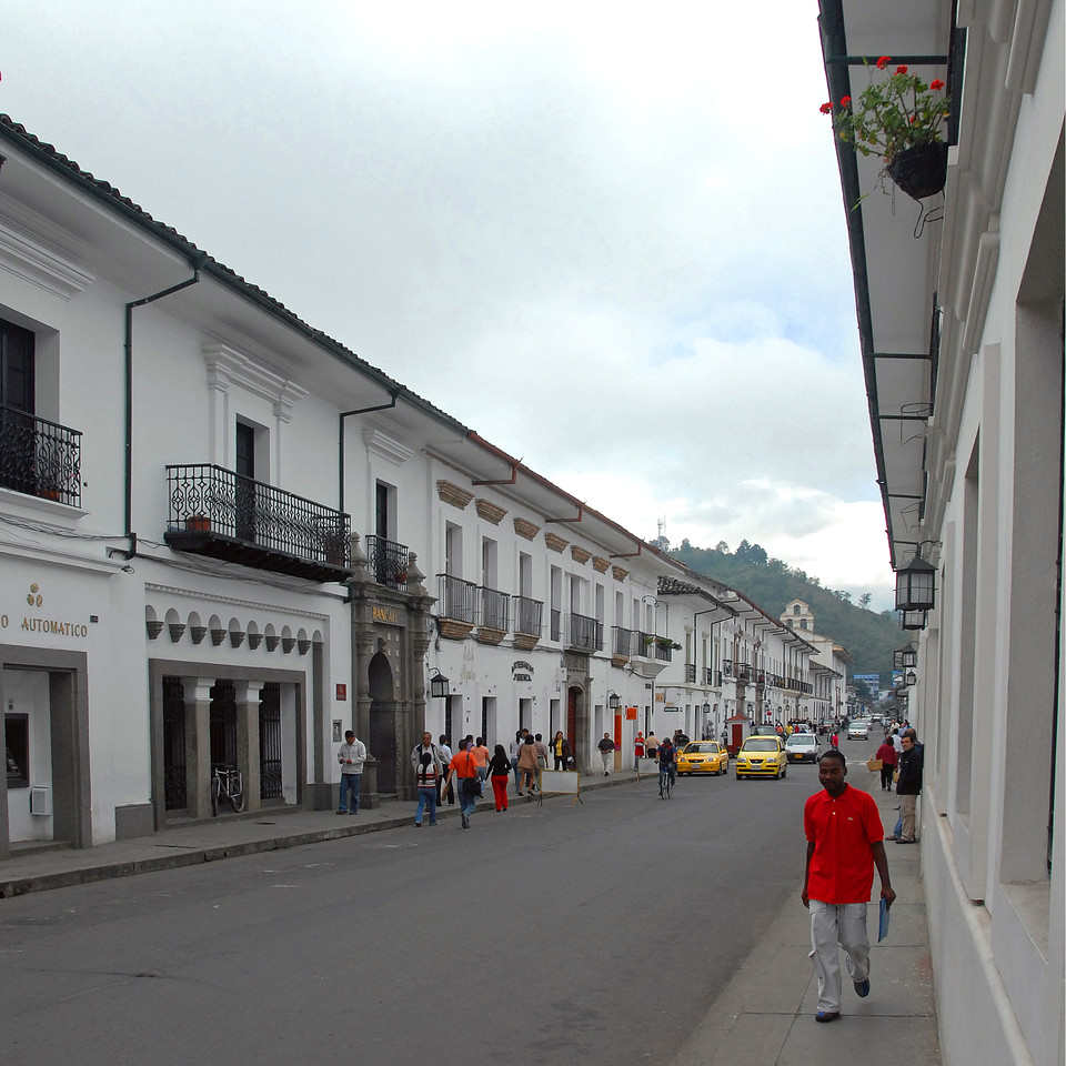 """I ofetn fly to the """"white city"""" Popayan, capital of the state of Cauca, on my way to visit Maria Santos or drive beyond to Narino.  Popayan is a world heritage site with almost no tourists!  Destroyed by earthquake in 1983 it has been lovingly restored and is quite a bustling city of a quarter of a million inhabitants."""