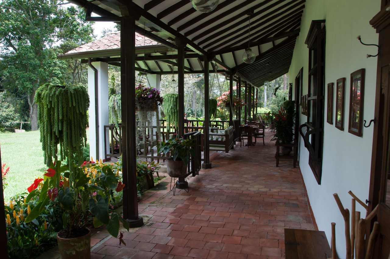 The estate home; eco-tourists invited!