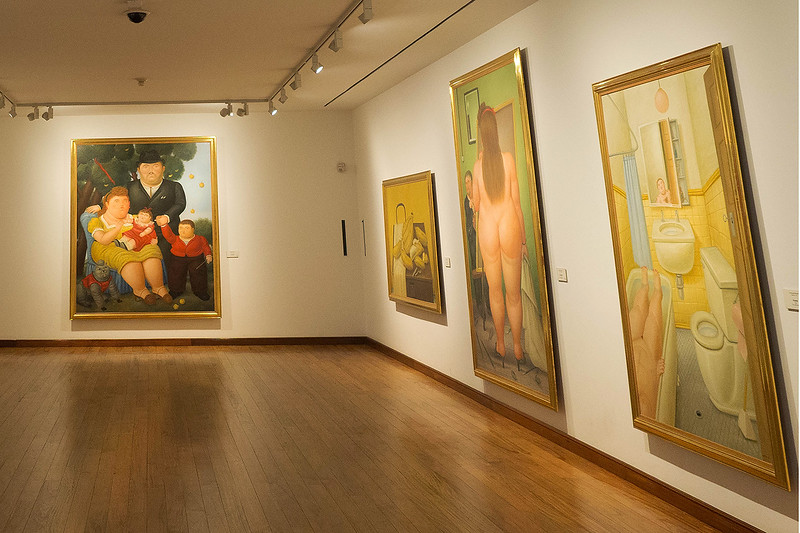 The paintings of Fernando Botero, Colombia's foremost living artist.