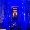 """The """"Salt Cathedral"""" carved out of the salt mines in Zipaquira, near Bogata."""