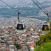Cable cars over the sprawling city of Medellin.