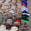 Vendors display of hats at the fort in Cartagena.