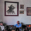 Men relaxing in a cafe in Solento.