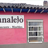 The Sanalejo restaurant, where they served good food and sold furniture.