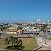 A view from San Felipe Fort, back to downtown Cartagena.