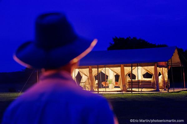 COLOMBIE. LE COROCORA CAMP DANS LA REGION DES LLANOS ORIENTALES.