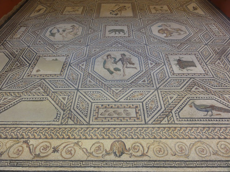Dionysos floor mosaic (Dionysosmosaik) from the Roman age.