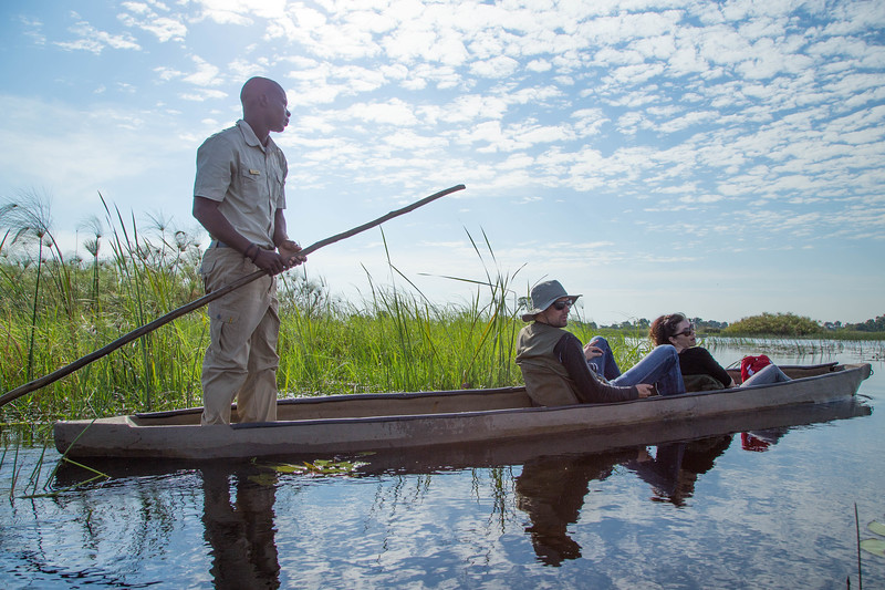 The mocker, a type of canoe, allows for silently viewing the wetlands.