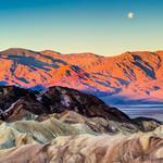 Moonset Zebriske Point